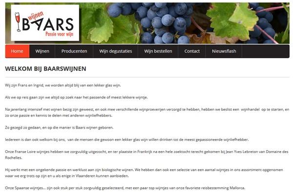 Nieuwe Joomla site: Baarswijnen.be