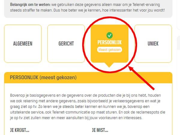 telenet privacy