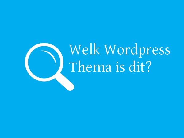 WordPress thema's terugvinden